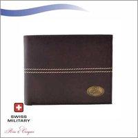 Swiss Military Mens PU Wallet Brown