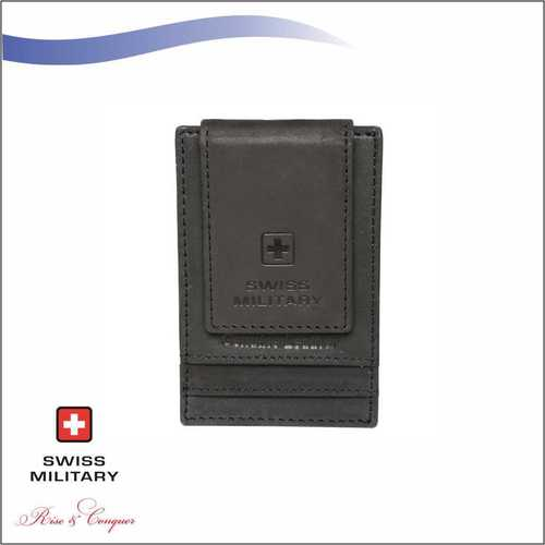 Swiss Military Genuine Leather Mens Wallet