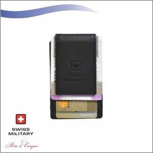 Swiss Military Mens Magnetic Money Clipper Grey (LW35)