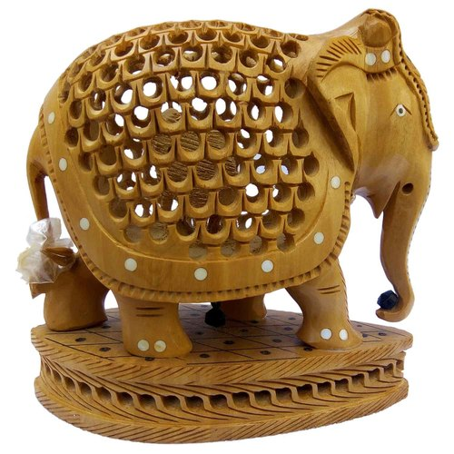 Wooden Under Cut Elephant