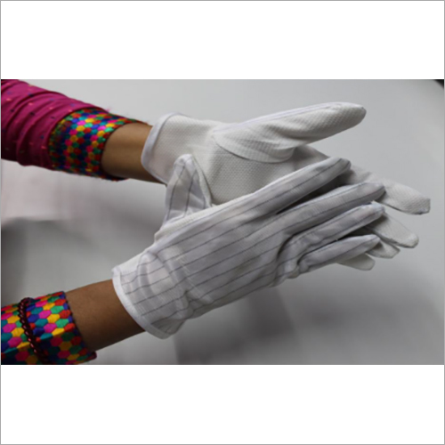 ESD PVC Dotted Hand Gloves