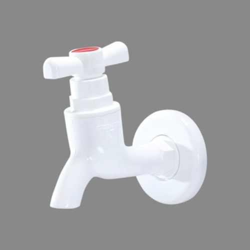 PVC Short Body White T Tap