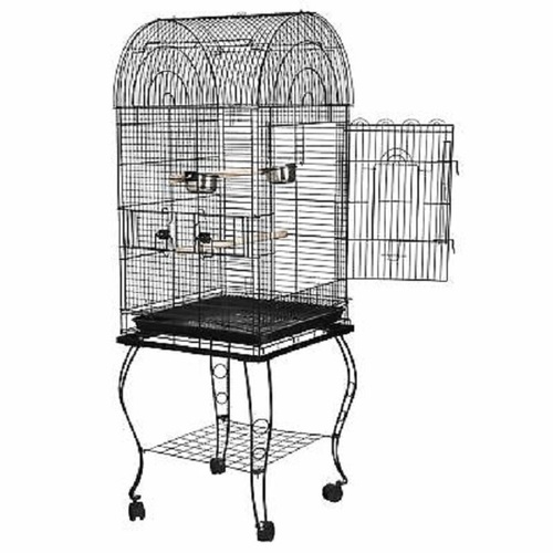 Large Wrought Iron Bird Cage Open Play Top