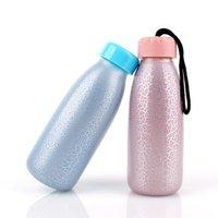 350ml Round shaped glass water bottle sports water bottle
