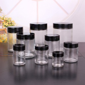 1oz 3oz 6 Oz 12 Oz 16oz 26oz Wide Mouth Round Glass Jar with Lids Food Storage Jar
