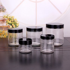 1oz 3oz 6 Oz 12 Oz 16oz 26oz Wide Mouth Round Glass Jar with Lids Food Storage Jar