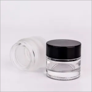 Wholesale 10g round frosted skincare glass jar for eye cream