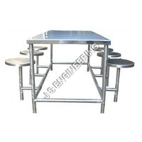6 Seats Canteen Table