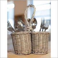 Wicker Cuttlery Holder
