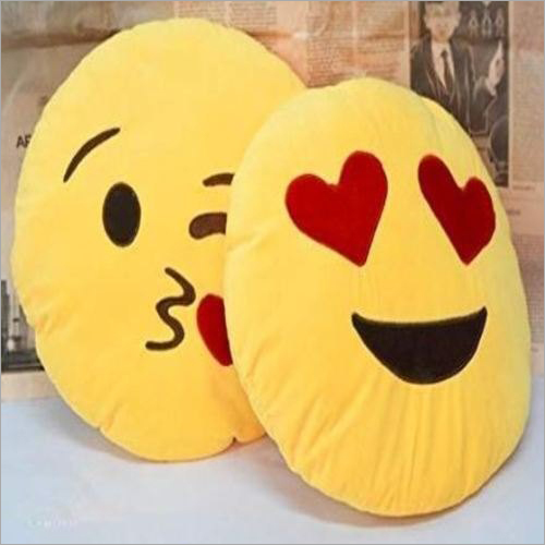 14 Inch Emoji Smiley Cushion