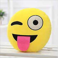 Emoji Wink Smiley Cushion