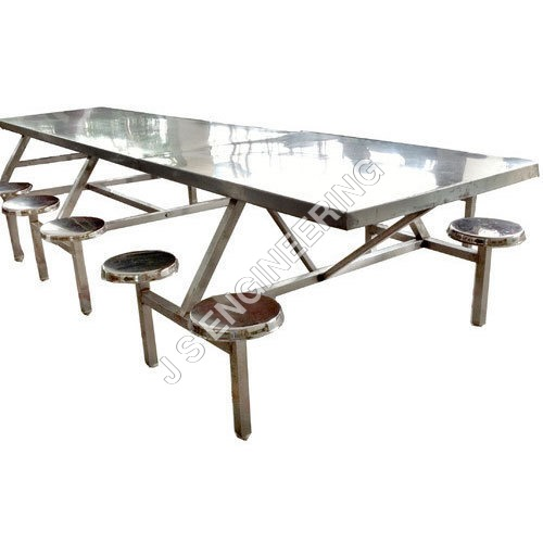 Hostel Stainless Steel Dining Table