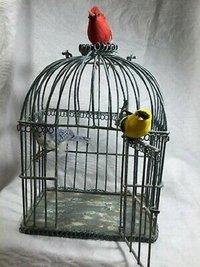 GORGEOUS ANTIQUE STYLE Blue Iron Bird
