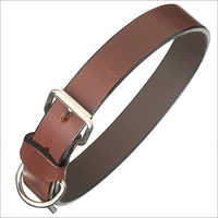 Plain leatherdog collar