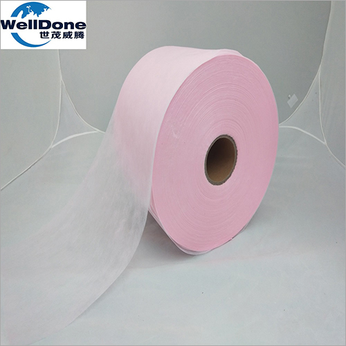 Pink Soft Hydrophilic Non Woven for Diaper And Sanitary Napkin
