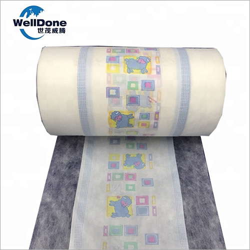 Printing Polyethylene PE Back Sheet Film of Baby Diaper Material