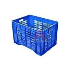 Draining plastic crates