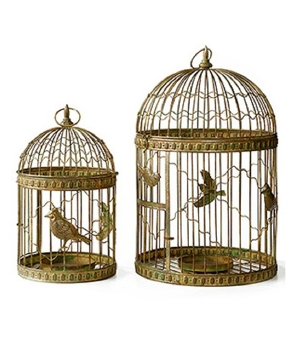 Set of Two Halloween Craft Cage For Birds