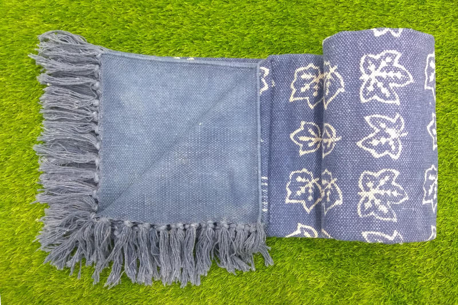 Indigo Blue Cotton Rugs