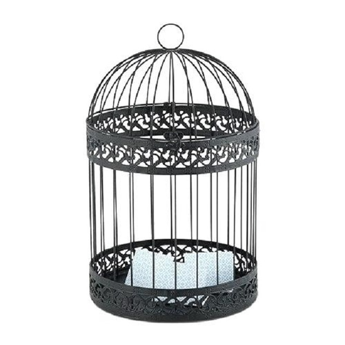 Dome Large Bird Cages Houses Black White Metal Iron .