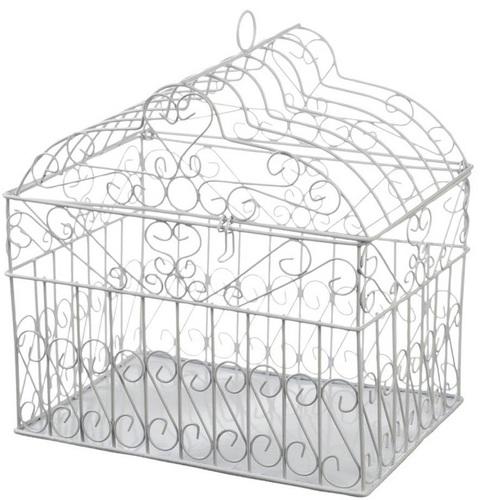 Metal Bridal Birdcage Card