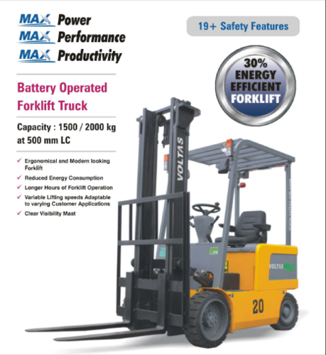 1.5 Ton Electric Forklift Truck OM