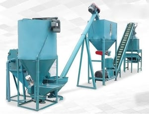 Semi Automatic Poultry feed Plant