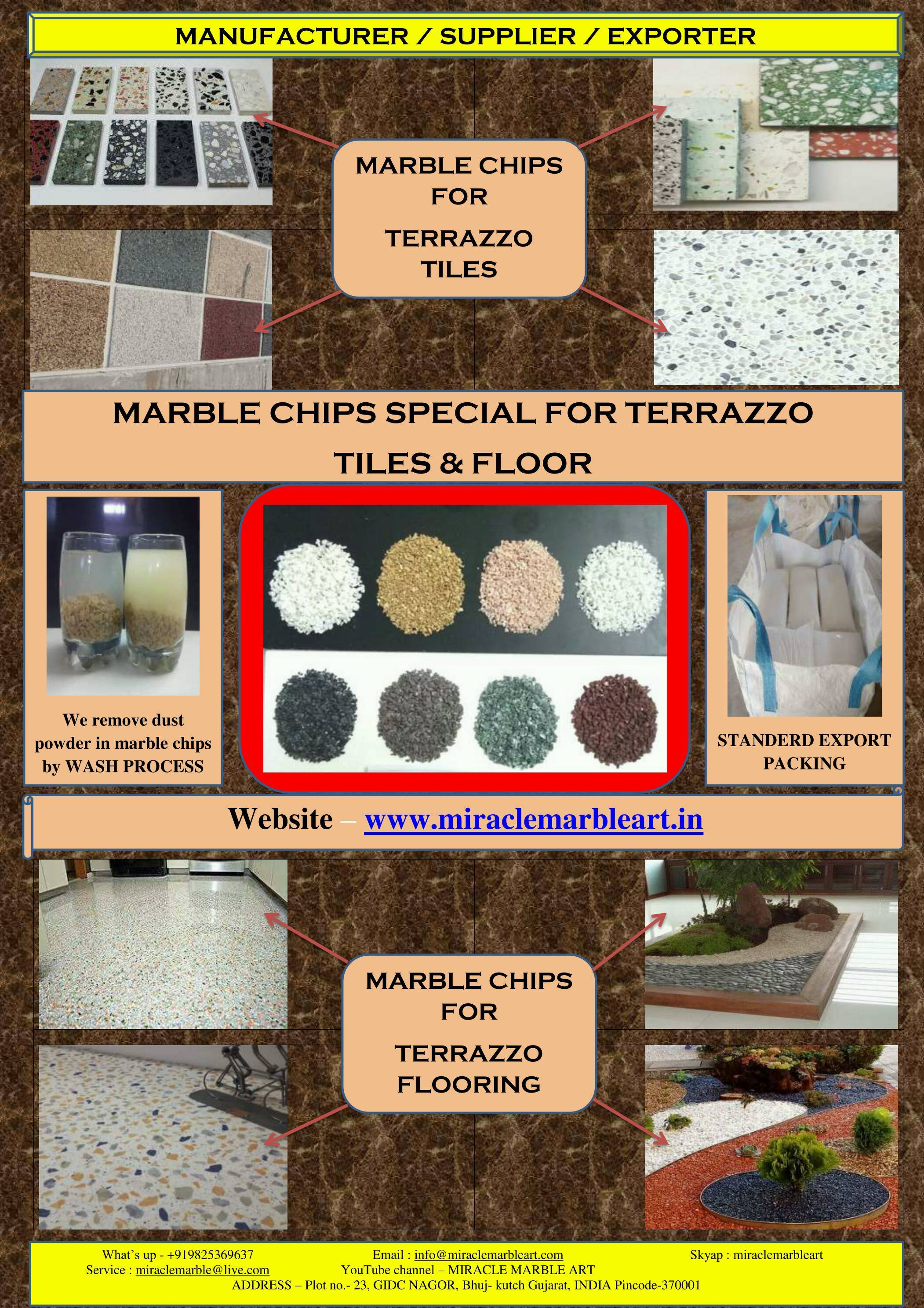 bulk supply wall cladding for White Marble Stone Chips and Marble Gravels