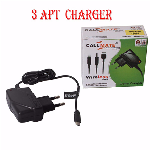 3APT Port World Travel Adapter With Fix Wire