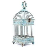 Hot Selling Small Antique Blue Square Iron Bird Cage