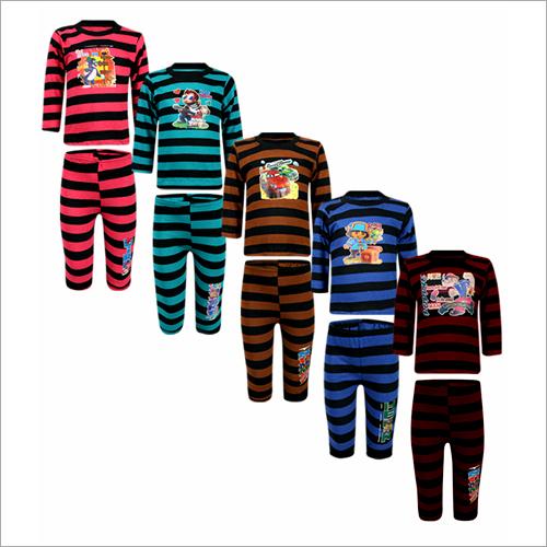 Kids Full Sleeves T Shirt With Pyjama Set