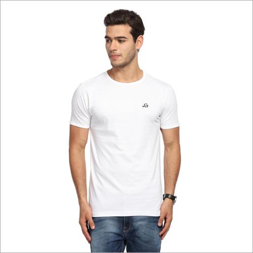 Mens Round Neck White T Shirts