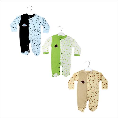 Baby Printed Cotton Romper Set