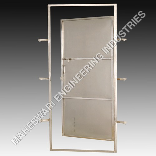 Stainless Steel Bathroom Door