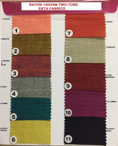 Rayon Two Tone Fabric 140GSM