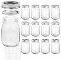 wide mouth mason glass jar