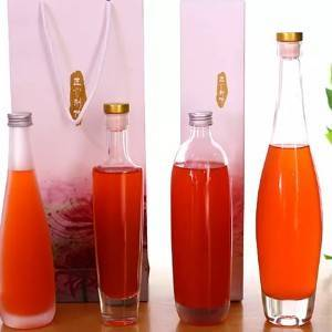 hot sale high-capacity clear decal 200ml 375ml 500ml wine glass bottle with cork