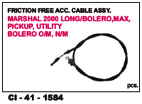 Friction Free Acc Cable Assy Marshal,Bolero,Max Pick Up