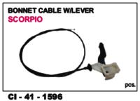 Bonnet Cable W/Lever Scorpio