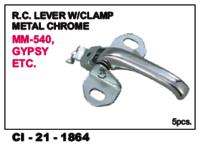 Rc Lever W/Clamp Metal Chrome Gypsy L/R