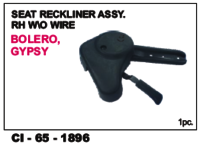 Seat Reckliner Assy W/O Wire Bolero, Gypsy L/R