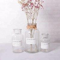 Christmas Gift 250ml 500ml 1000ml Amber And Clear Preserved Fresh Flower Glass Vase