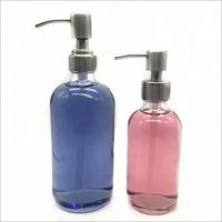 High Quality Clear White Glass 8oz/16oz Boston Round Bottle For Shampoo,Shower Gel