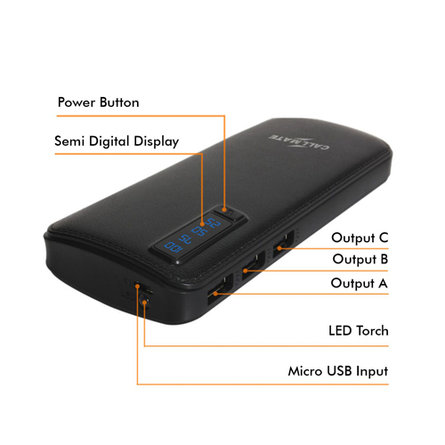 Power Bank 15000 mAh with Torch