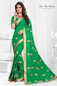 Designer Bandhani Silk Saree