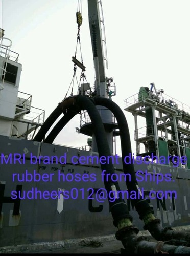 Cement Discharge Rubber Hoses from Ships
