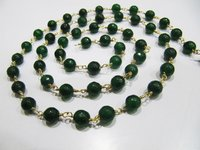 3Feet Natural Emerald Jade Chalcedony Round Beads 6mm Rosary Chain