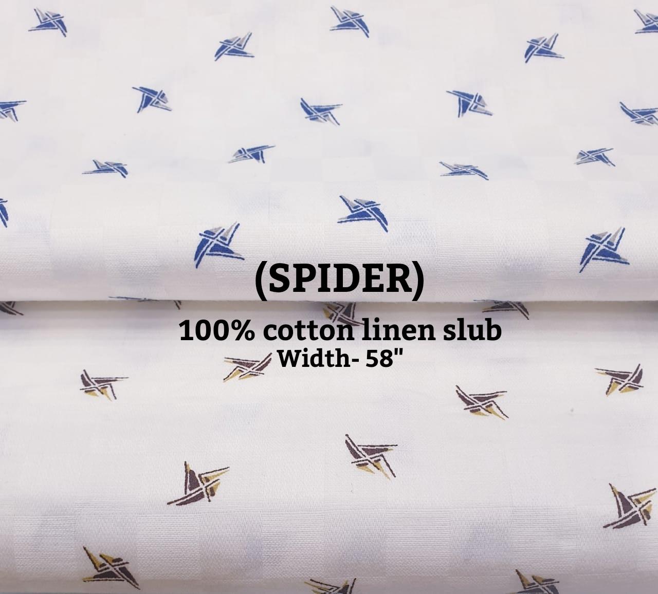 Spider 100% cotton linen slub
