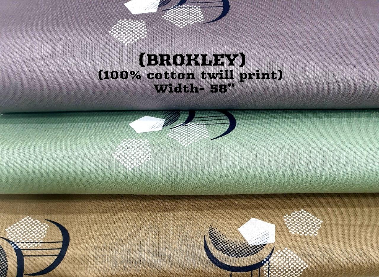 Brokley 100% cotton twill print