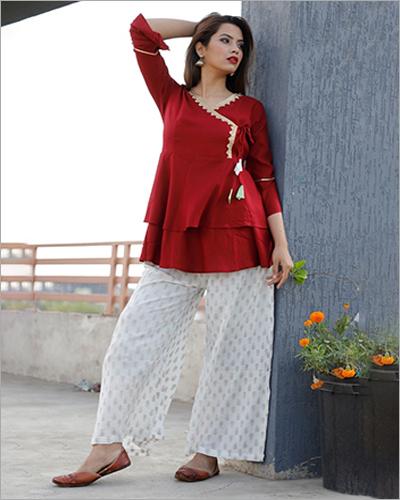 Ladies Short Plain kurta